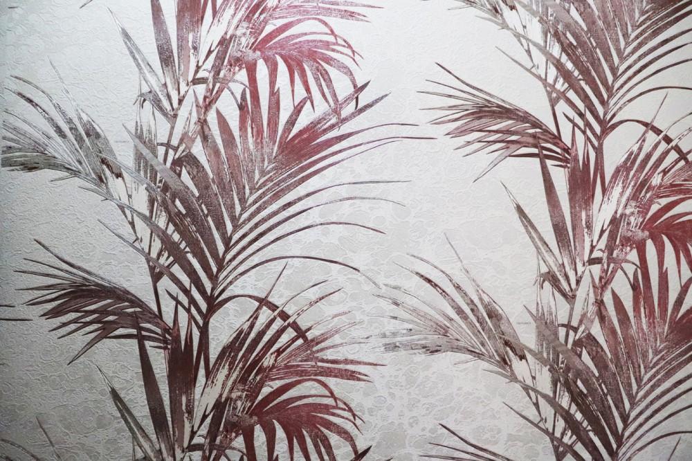 Palmowe liście na betonowym tle