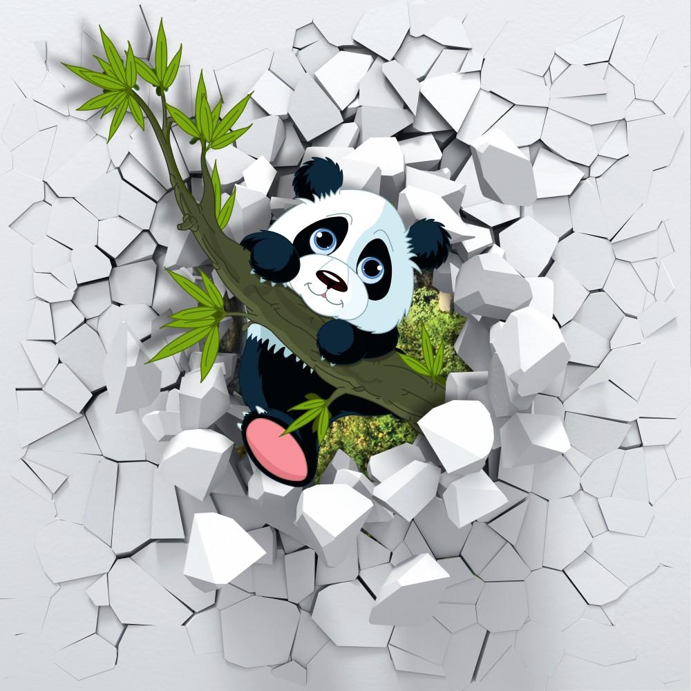 Fototapeta Miś Panda 3D