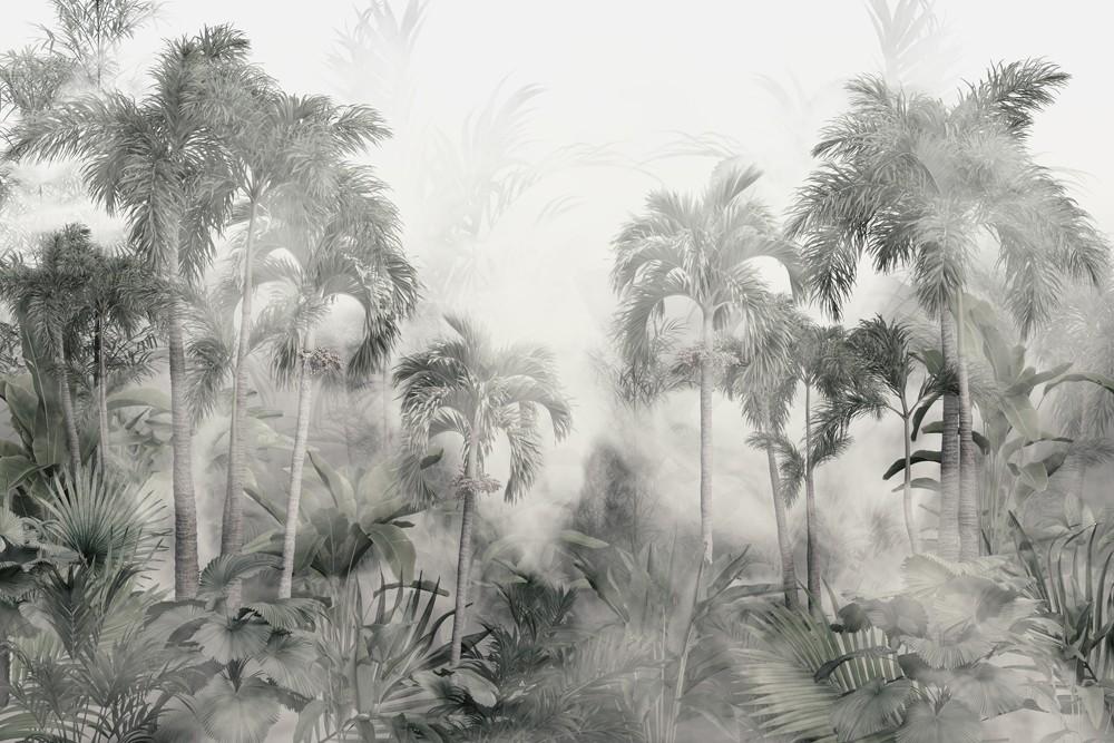 Dżungla we mgle w stylu retro