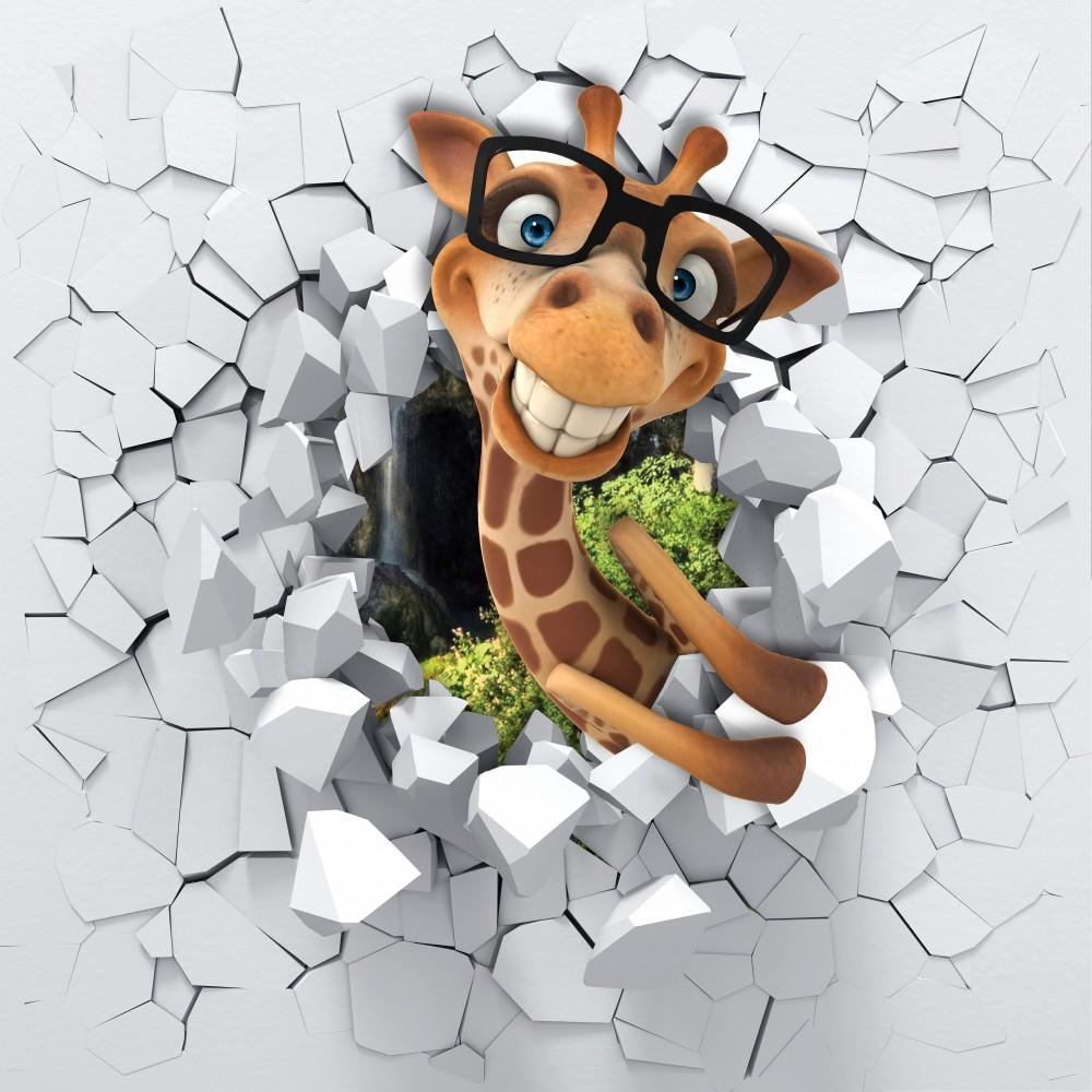Fototapeta Śmieszna Żyrafa